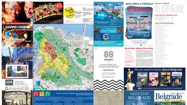 """Turističke mape Beograda u objektima """"Parking servisa"""""""