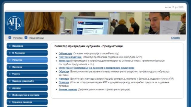 E-registracija preduzetnika u APR-u