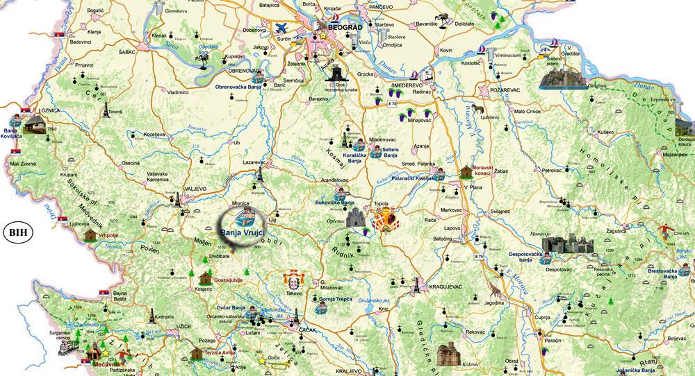 mapa srbije banje Prostorni podaci za celu Srbiju na novom portalu › Made in Germany.rs mapa srbije banje