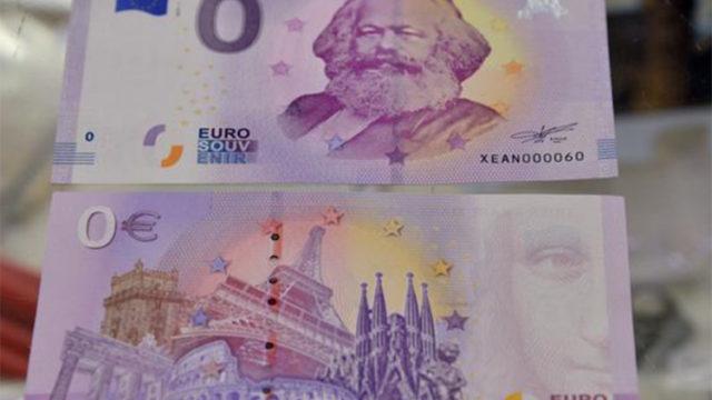 Novčanica od 0 € sa likom Marksa