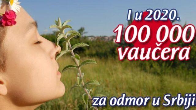 Spremno 100.000 vaučera za odmor u Srbiji u 2020.