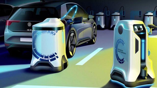 VW predstavio robota za punjenje elektromobila